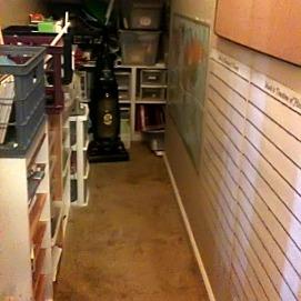 Creative storage area.