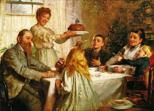 cc Joseph Clark (British artist, 1834-1926) A Christmas Dole 1800s